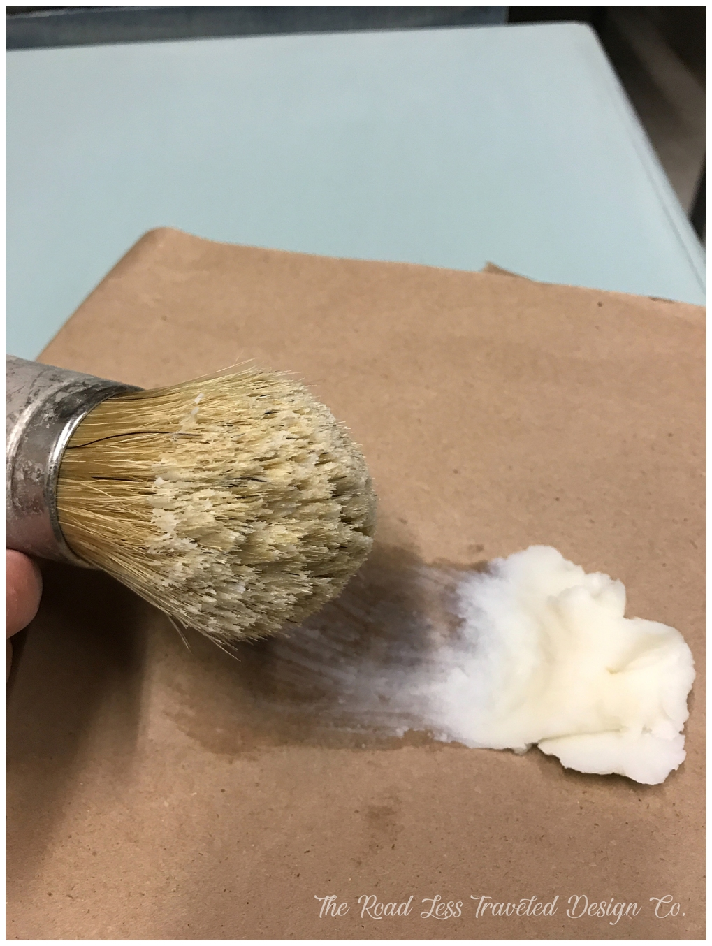 Wax on Brush